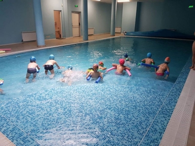 Проект Плувам и се забавлявам-детска градина 25 Изворче в град Банкя